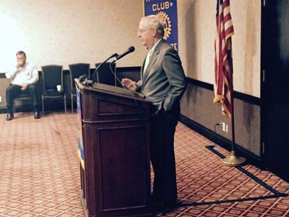 Sen. McConnell spoke to Florence Rotary.