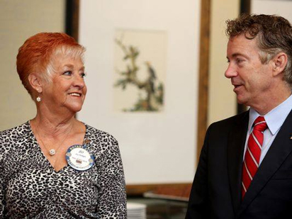 Rand Paul chats with Florence Rotarian Joy Hodges.