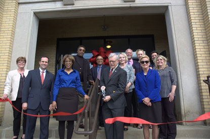 The Northern Kentucky Community Action Commission held a ribbon-cutting at the Lincoln Grant Scholar House (LGSH) on April 5, 2017.